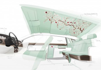 Rolls-Royce Serenity interior sketch