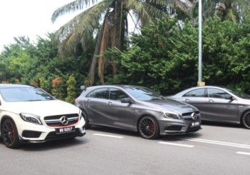 Mercedes-AMG GLA 45 Edition 1, A 45 and CLA 45