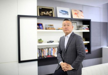 Freeman Shen, founder and CEO of WM Motor Technology Co., Ltd. poses for a photograph at his office in shanghai