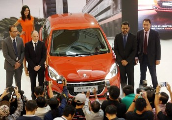 The new Peugeot 2008 was launched in Malaysia on Jan 11, 2017, alongside the 208. Present at the joint launch were (from left) Nasim head of company Mohamed Yasser Awan, PSA Groupe South-East Asia sales chief Frederic Soulier, Naza Corp Holdings (Automotive Group) chief operating officer Datuk Samson Anand George and Naza Euro Motors general manager Lionel Jayasinghe.