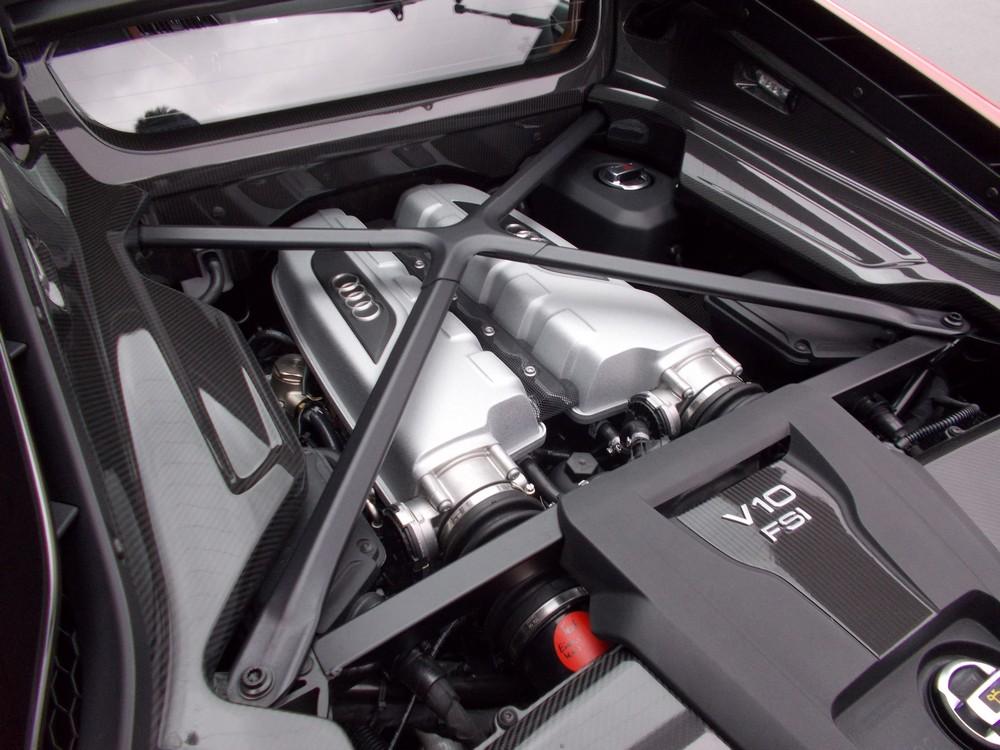 The R8 plus engine.