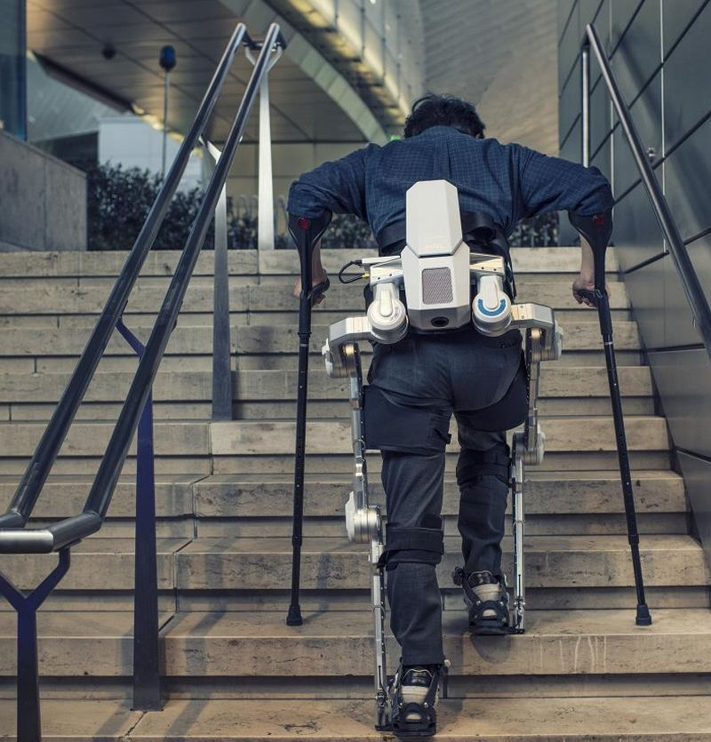 Help Getting Up Stairs For People With Limited Mobility: Hyundai Introduces Wearable Exoskeleton