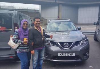 New Nissan Grand Livina owner - Safinas Binti Othman with husband Mohd Izham Bin Baharudin during the REAL MADRID VS JUVENTUS UEFA Champions League Final 2017 at Millennium Stadium, Cardiff.