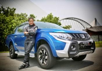 Mitsubishi Motors Malaysia brand ambassador Leona Chin - 01 with Triton VGT Adventure X
