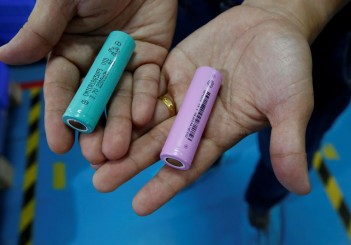 Batteries for electric vehicles are manufactured at a factory in Dongguan