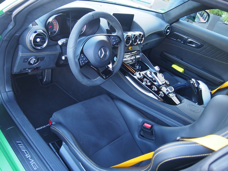 The GT R cockpit.