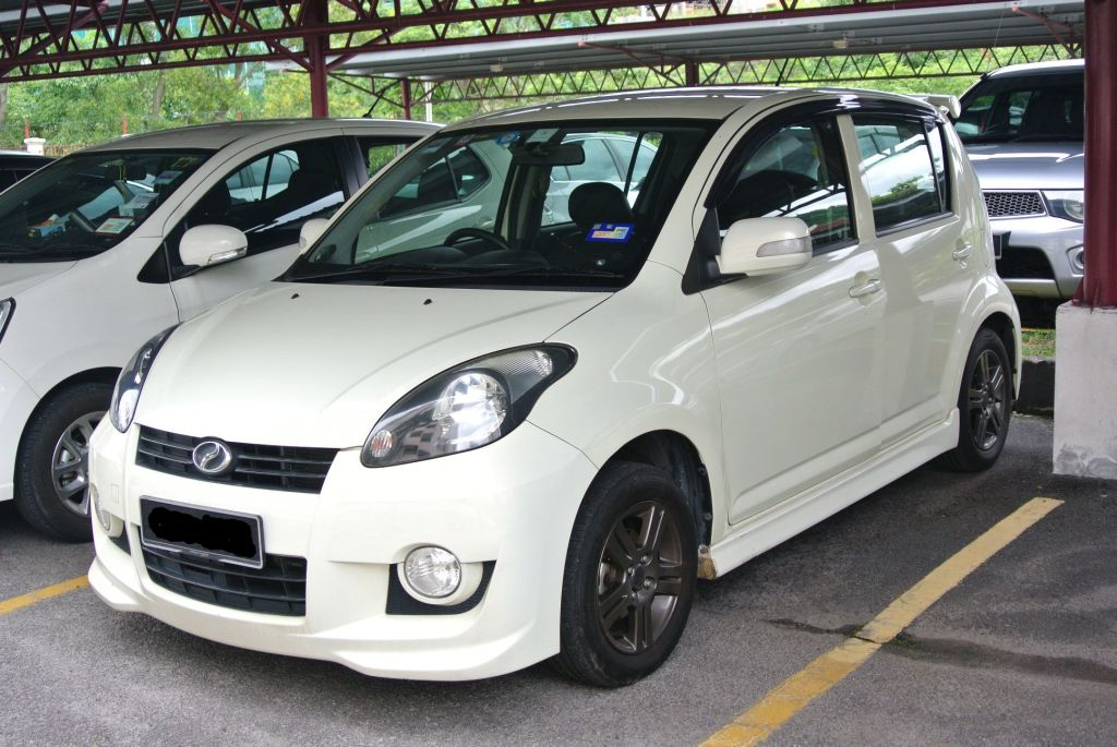 The start of a runaway success. The first-generation Myvi.