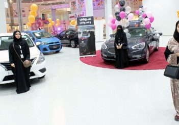 Saudi women are seen at the first automotive showroom solely dedicated for women in Jeddah