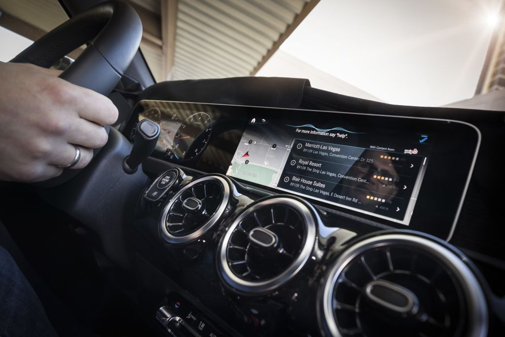 STUTTGART/LAS VEGAS. Mercedes Benz Has Introduced Its New Infotainment  System For Compact Cars In A World Premiere At The CES 2018 In Las Vegas.