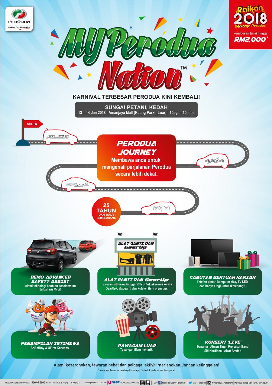 MYPerodua Nation 2018 poster