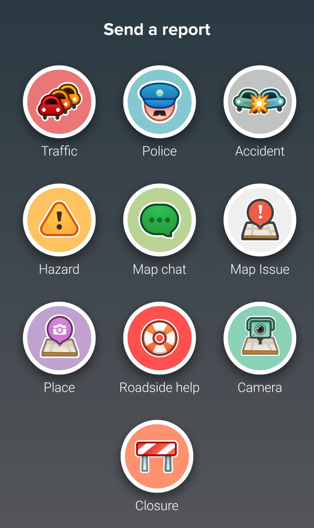 Waze - 04 Types Of Reports
