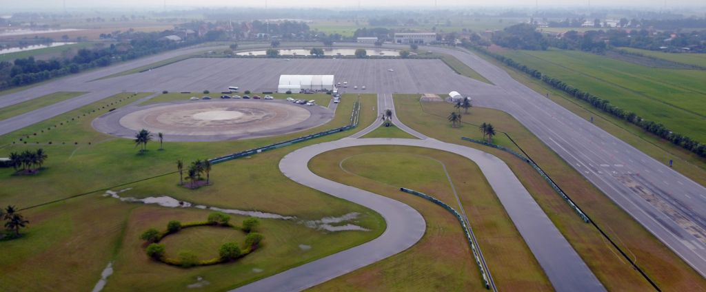 Bridgestone's proving ground near Bangkok has been designed test new tyres in all sorts of driving scenarios.
