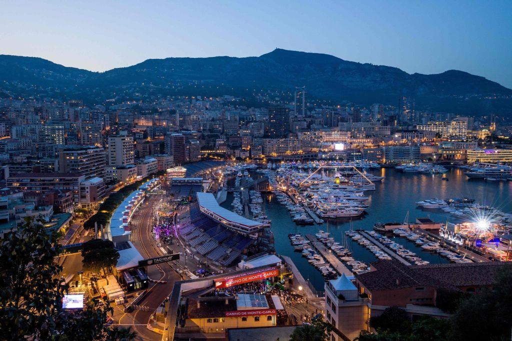 Monacoby night on May 25, 2018 in Monaco, ahead of the Monaco Formula 1 Grand Prix. / AFP PHOTO / ANDREJ ISAKOVIC