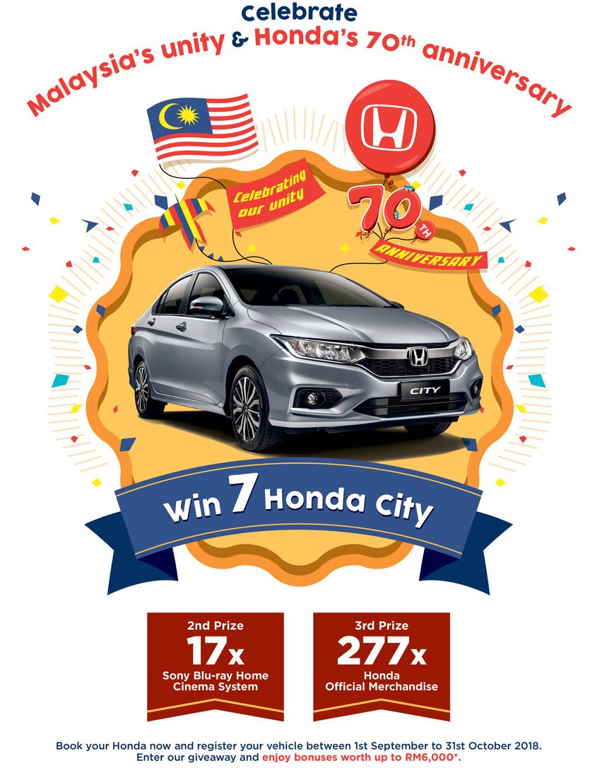 Honda Malaysia Seven City Units For The Best Slogan
