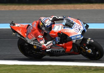 Ducati Team rider Andrea Dovizioso (ITA) during inaugural MotoGP race at Buriram International Circuit (THAI)