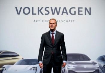 FILE PHOTO: Diess, Volkswagen's new CEO, poses during the Volkswagen Group's annual general meeting in Berlin