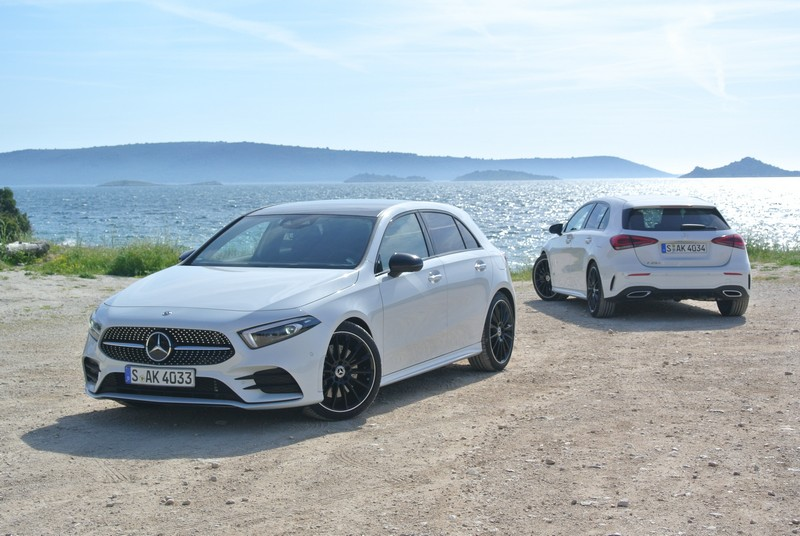 The A 250 AM G Line brings out the best of the new A-Class' avantgarde styling.