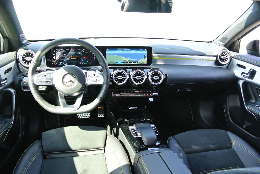 The A 250 Edition 1 interior