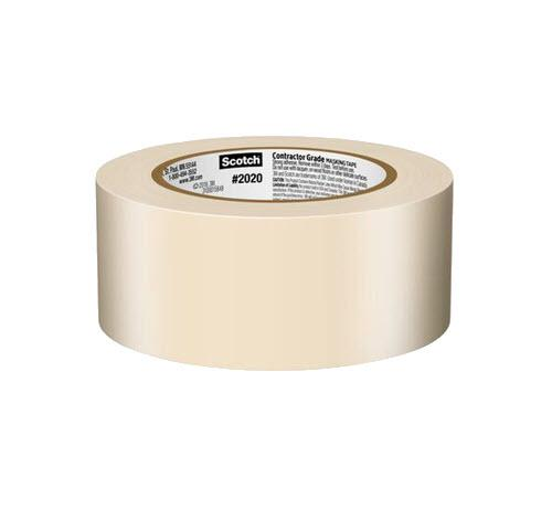 2 in x 60 yd 3M Scotch 2020 Contractor Grade Masking Tape for Production Painting
