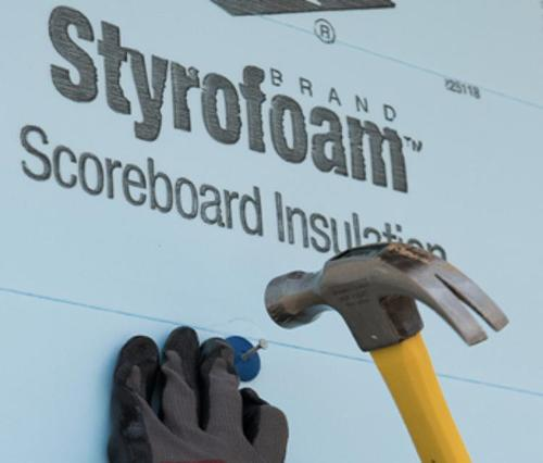 2 1/2 in x 4 ft x 8 ft DuPont Styrofoam Brand Scoreboard Extruded Polystyrene Foam Insulation