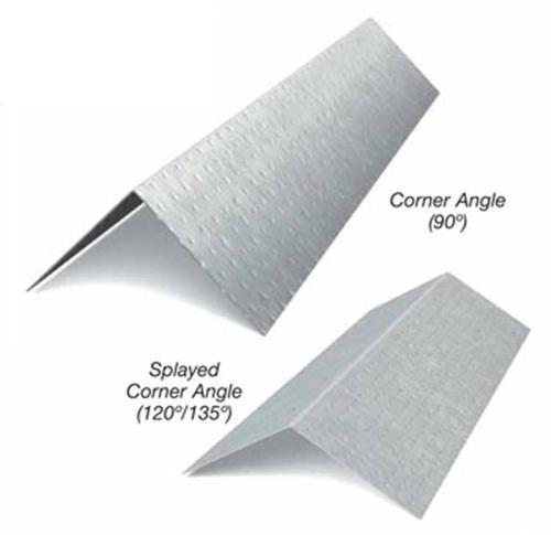 1 1/2 in x 1 1/2 in x 10 ft x 25 Gauge 18 mil Corner Angle