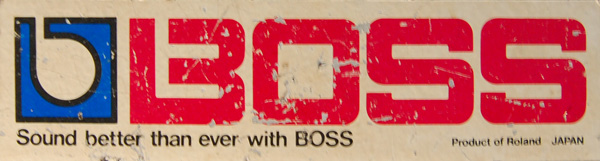 boss dm-100 decal