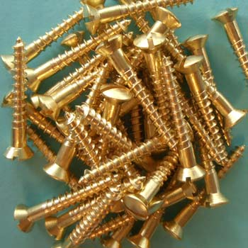 Oval Head Brass Wood Screws