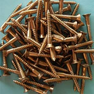 Flathead Silicon Bronze Wood Screws