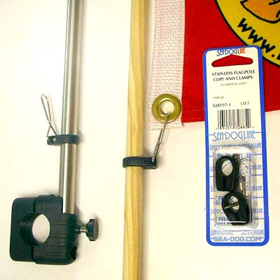 Burgee Flagpoles & Clips