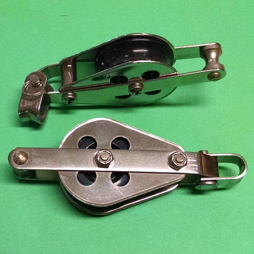 "1/2"" (13mm) Racelite Single Shackle Becket Blocks"