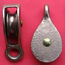 "3/8"" (9mm) Bronze Fast Eye Pulleys"