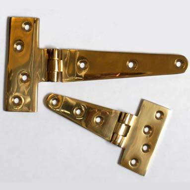 Cast Brass T-Hinges
