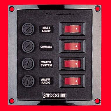 Seadog Illuminated 4 Fuse/Switch Panels