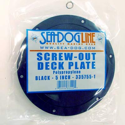 Seadog Polypropylene Screw-out Deck Plates - Black