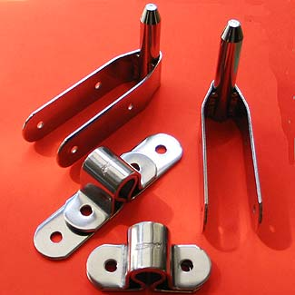 """Set of 1/2"""" Pin Heavy Duty Pintles and Gudgeons"""