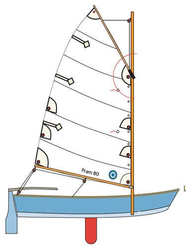 14' Nuthatch Pram Plans - Sailing Version