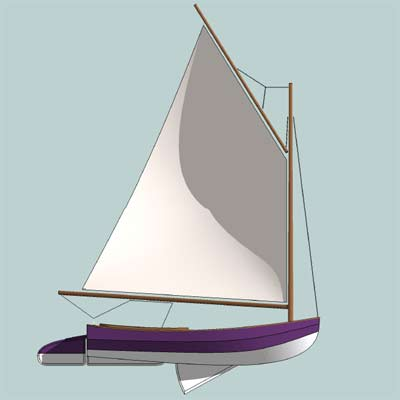 Catboat Plans - Hard Chine Version