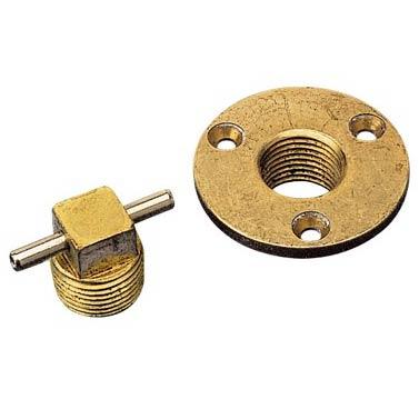 Bronze Garboard Drain & Plug