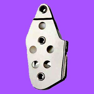 "5/16"" (8mm) Ronstan Fiddle, V-jam Cleat, Tube Rivet Head Utility Block"