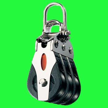 "1/4"" (6mm) Ronstan Triple, 2-axis shackle head Ball Bearing Block"