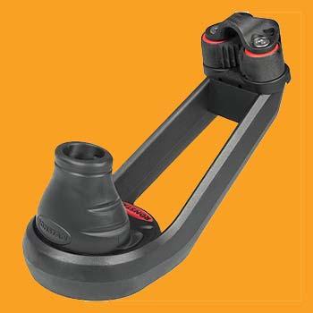 "5/16"" (8mm) Ronstan Small Mainsheet Swivel Cleat Base"