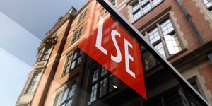 Lse logo and signage on building