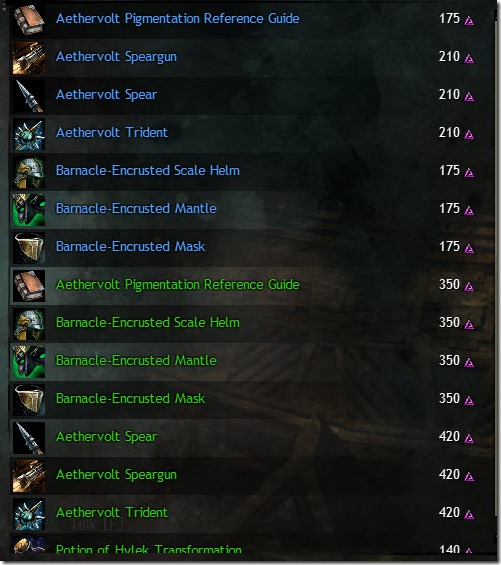 Brisban Wildlands Karma vendor list