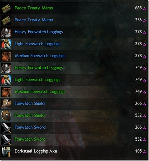 GW2 Blazeridge Steppes Karma Vendor list