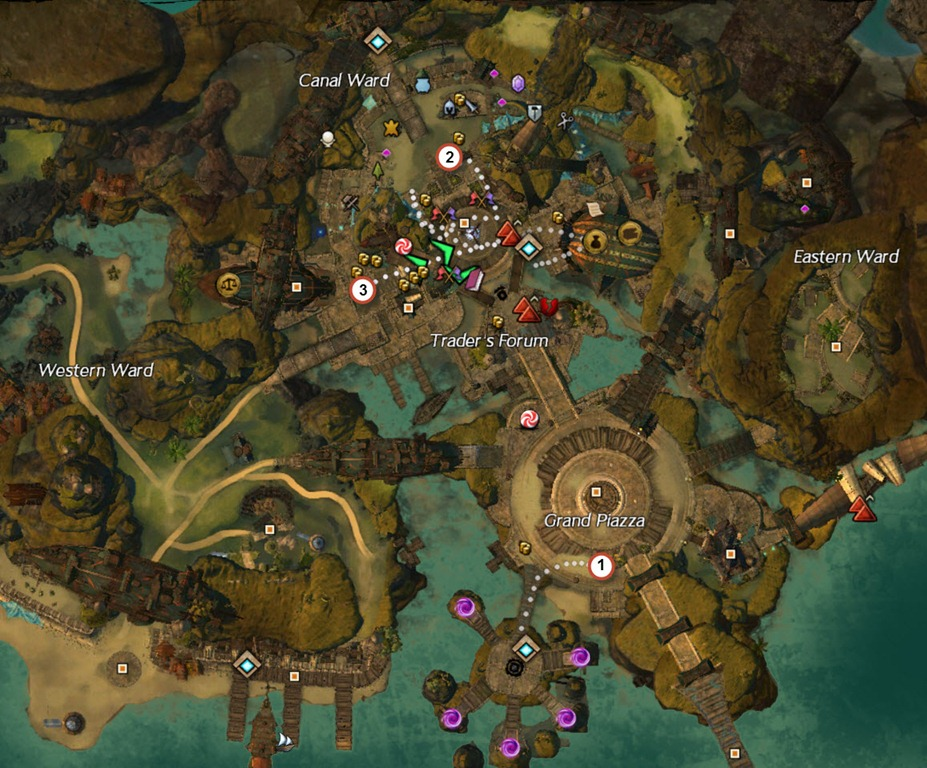 gw2 magic snow lions arch map