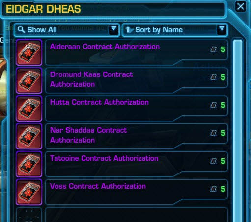 SWTOR Bounty Contract Week Kingpin missions guide - Dulfy