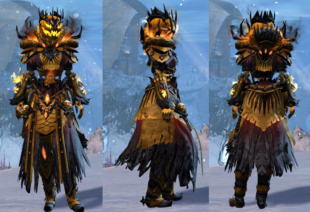 GW2 Bloody Prince and Executioner's Outfit in the gemstore