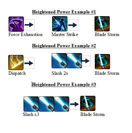 Heightened Power Rotations
