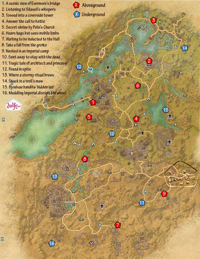ESO Bangkorai Skyshards Guide - Dulfy
