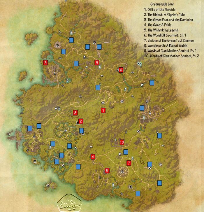 ESO Greenshade Lorebooks Guide - Dulfy